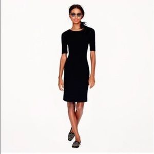 J Crew black wool panel dress